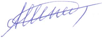 Подпись синяя